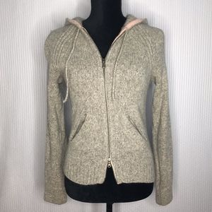 Express Merino/Angora Blend Hooded Cardigan